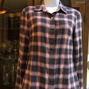 Standard James  Perse size 2 lightweight plaid top